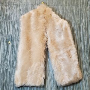 Blush Colored Faux Fur Lined Scarf